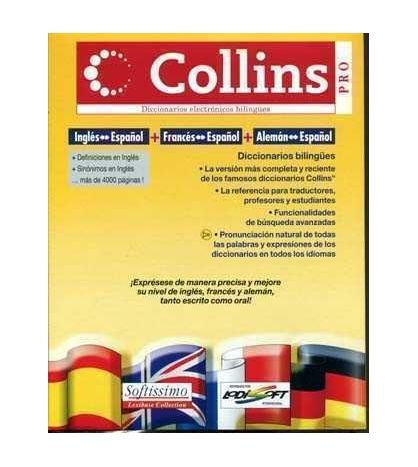 Diccionario Collins Pro Multilingue Ingles-Español, Frances-Español, Aleman,-Español