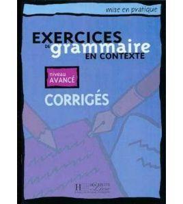 Exercices de Grammaire Contexte Avance Corrige