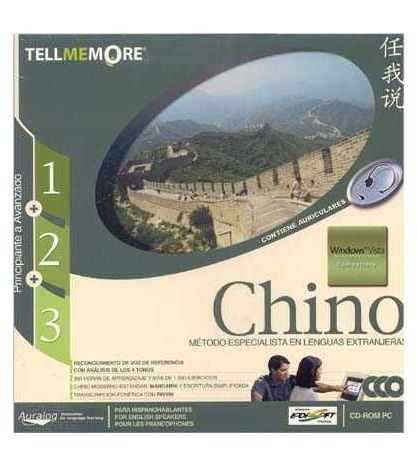 Tell Me More Chino 1-2-3 con auriculares CD Rom PC  Windows Vista