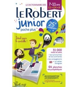 Dictionnaire Robert Junior Poche Plus 2018