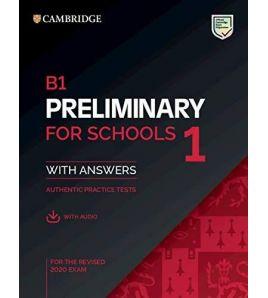 PET B1 for Schools Tets + answers+audio web exam 2020