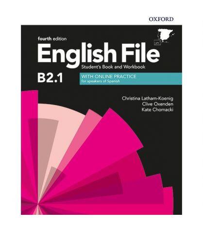 English file B2.1 Intermediate Plus Student+ wb with key 4th