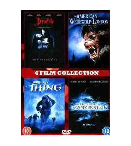4 Film Collection (Dracula, American Werewolf in London, The thing, Frankenstein)