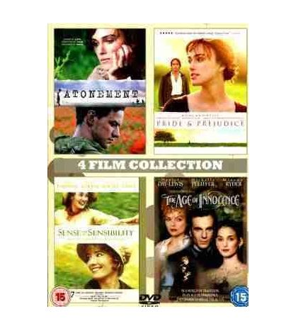 4 Film Collection : Atonement / Pride and Perjudice / Sense and Sensibility / Age of Inocence DVD