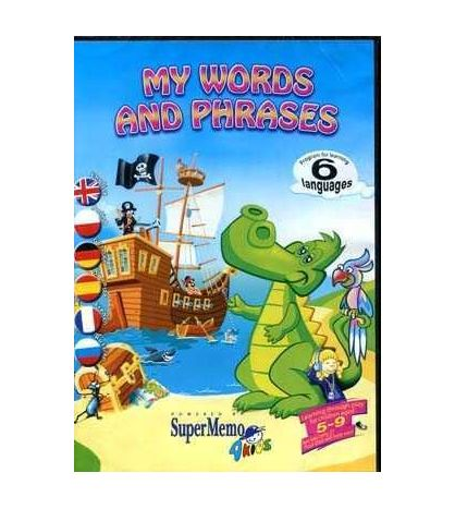 My Words and Phrases 5 - 9 aged Cd - rom ( 6 languages )