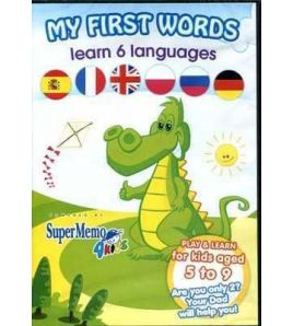 My First Words 5 - 9 aged Cd - rom ( 6 languages )