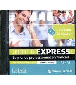Objectif Express Nouveau 1 A1/A2 Cds audio classe ( 2 )